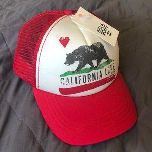 NWT billabong snap back trucker hat